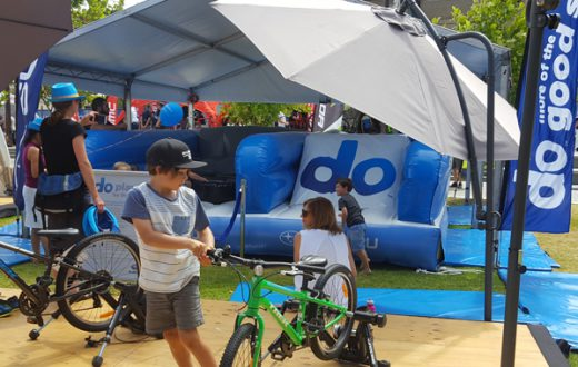 subaru do brand activation inflatable obstacle course