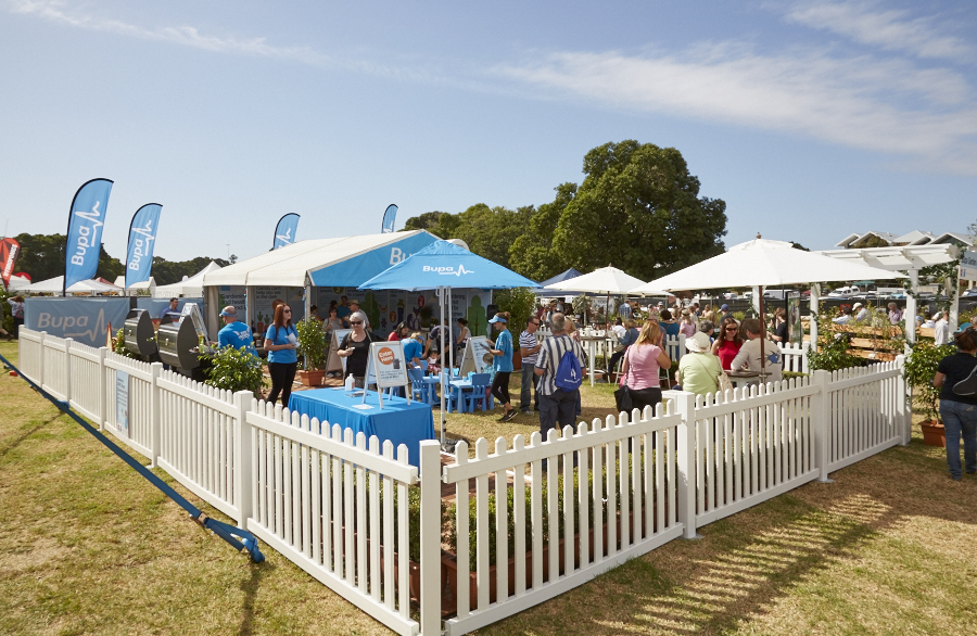 bupa perth garden festival brand activation