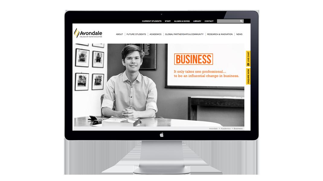 avondale college website redesign